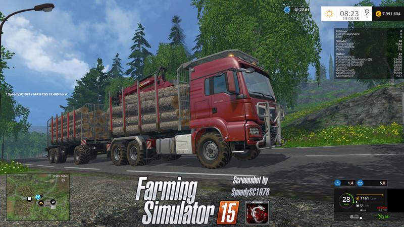 MAN TGS Forest Trucks Set Mod v 1.5 for FS 15 - Farming Simulator 2015 ...