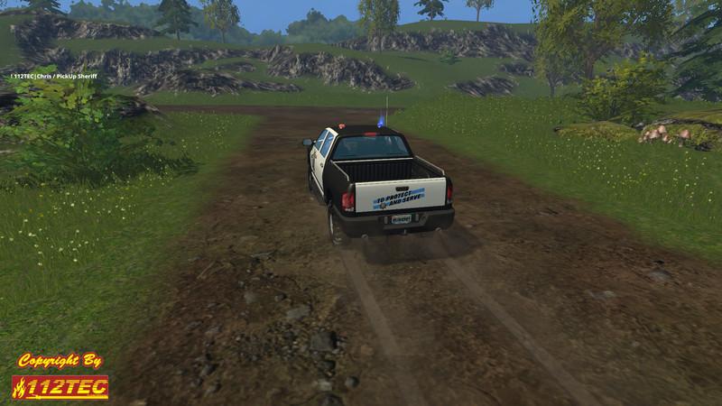 Sheriff Pickup Car V 1 0 Farming Simulator 2015 15 Mod