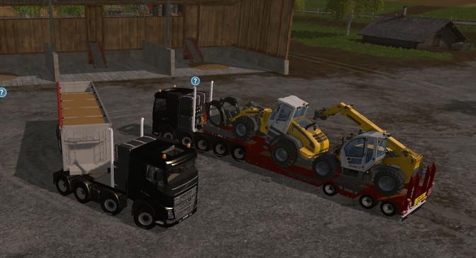Volvo FH16 Heavy Duty 10x10 and 8x8 Truck Pack v 0.2 - Farming Simulator 2015 / 15 mod