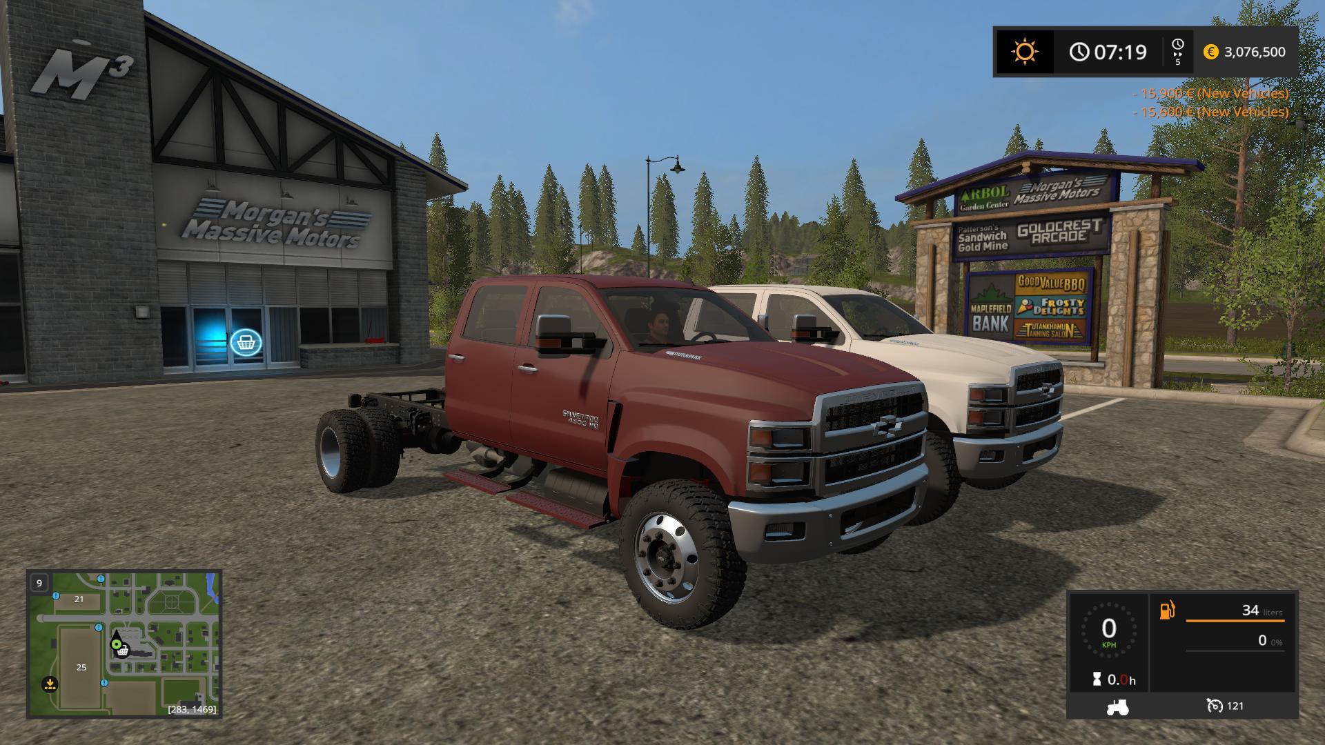 Chevy 2019 4500 v1.0 Mod - Farming Simulator 2015 / 15 mod