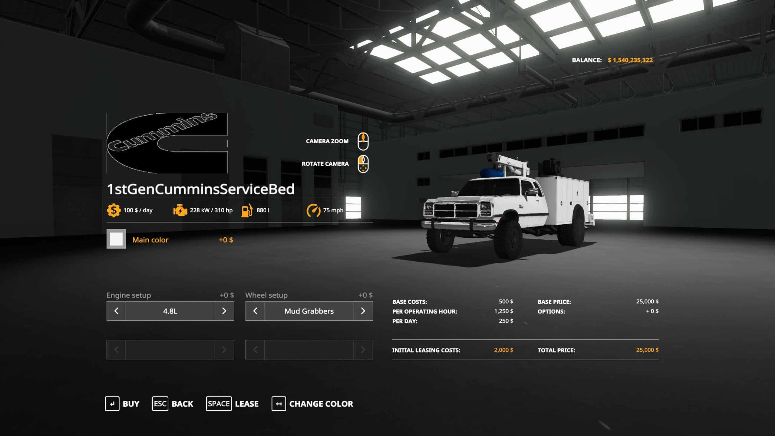 1st Gen Cummins Service Bed v2 0 Mod - Farming Simulator