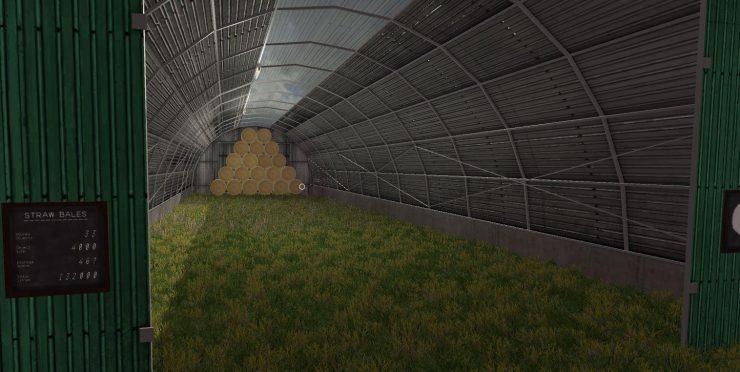 LARGE BALE STORAGE Buildings Final v1 0 2 0 MOD - Farming Simulator