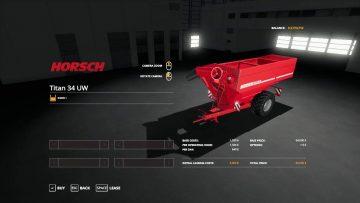 Horsch Titan 34uw beta Mod - Farming Simulator 2015 / 15 mod