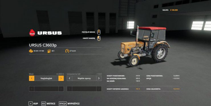 Ursus 360 3p v1 0 0 0 MOD - Farming Simulator 2015 / 15 mod