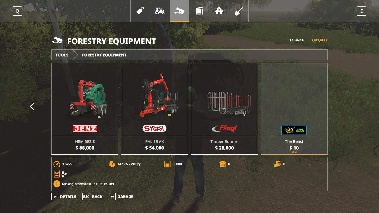 The beast chipper beta Mod - Farming Simulator 2015 / 15 mod