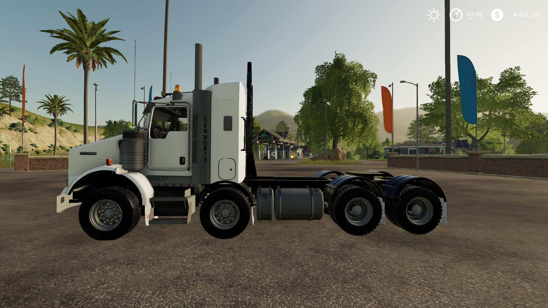 Kenworth T800B TwinSteer v1 0 Mod - Farming Simulator 2015